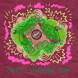 Kávé - Spirulina szappan Illusztráció