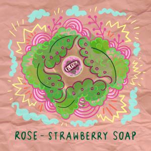 Eper - Rózsa szappan Illusztráció