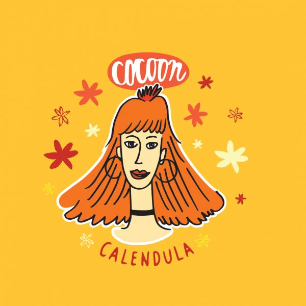 Körömvirág Hölgy Illusztráció